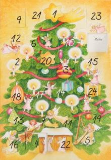 Adventskalender-Karte Engelbotschaften für jeden Tag (6 Stück) Engelkarten
