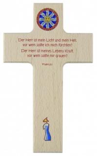 Kinderkreuz Der Herr ist mein Licht.. Buche 15cm 20cm Wandkreuz Holz Kreuz Psalm