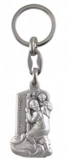 Schlüsselanhänger Christophorus mit Jesukind 10 cm Christopherus Anhänger