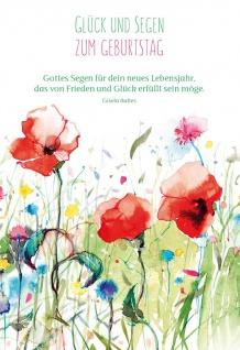 Glückwunschkarte Geburtstag 6 St Kuvert Gisela Baltes Segen-Wunsch Glück Freude