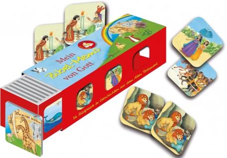 Mein Bibel Memo von Gott Kartenlegespiel mit 36 Bildpaaren