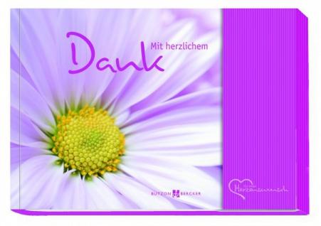 Geschenkbuch Mit herzlichem Dank, Geldgeschenk-Buch Tasche für Gutschein