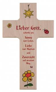 Kinderkreuz Sonne Liebe Zuversicht Buche 15 cm 20 cm Wandkreuz Holz Kreuz Gebet