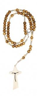 Rosenkranz geknüpft 31 cm Oliven-Perlen 5 mm Verschluss