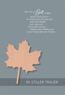 Trauerkarte Jeremia 5 St Kuvert Ahornblatt Bibelwort Bibelmeditation Glaube Gott