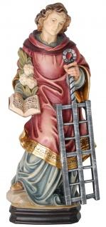 Heiliger Laurentius Heiligenfigur Holz geschnitzt Südtirol Schutzpatron