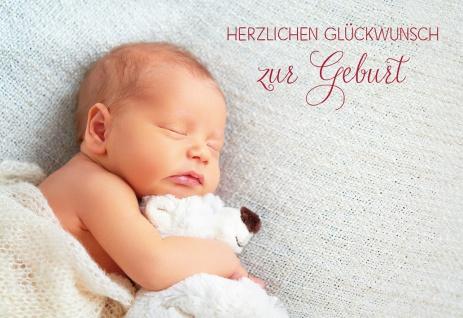 Glückwunschkarte Geburt Bibelwort 6 St Kuvert Schutz Baby Schlaf Kuscheltier