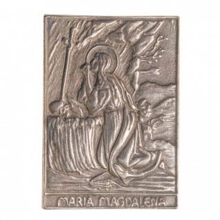 Namenstag Magdalena 8 x 6 cm Bronzeplakette Bronzerelief Wandbild Schutzpatron
