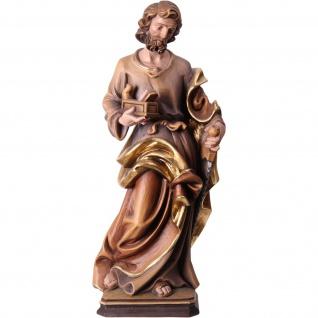 Heiliger Josef Holzfigur, geschnitzt handbemalt Südtiroler Schnitzkunst