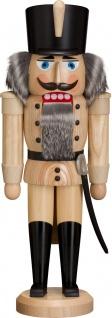 Nussknacker Husar natur 37 cm Holz-Figur Handarbeit aus Seiffen im Erzgebirge