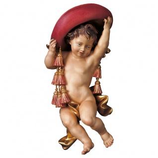 Engelfigur Kardinalsputte Holz geschnitzt handbemalt Südtiroler Schnitzkunst
