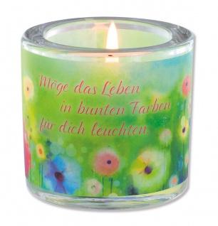 Glaswindlicht Das Leben Teelicht Kerzenhalter Geschenkbox Glas für Windlicht