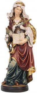 Heilige Justina mit Buch und durchbohrtem Schwert Holzfigur geschnitzt Südtirol