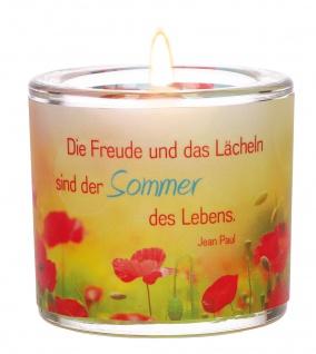 Glaswindlicht Die Freude Jean Paul Teelicht Kerzenhalter Glas für Windlicht