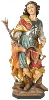 Heiliger Hubertus Lüttich Holzfigur geschnitzt Südtirol Schutzpatron