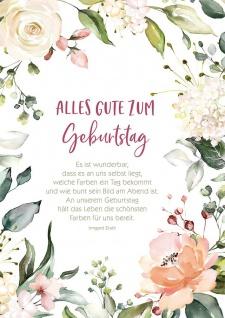 Postkarte Geburtstag 10 St Adressfeld Grußkarte Irmgard Erath Blumen Lebensfreude