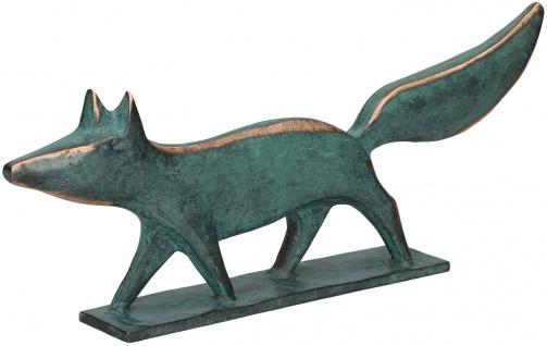 Fuchs Raimund Schmelter Sockel Bronzefigur Patina Bronze Statue Skulptur