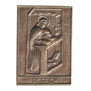 Namenstag Dietrich 8 x 6 cm Geschenk Bronzerelief Wandbild Schutzpatron
