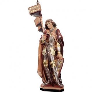 Heiliger Quirinus Holzfigur geschnitzt Südtirol Schutzpatron Märtyrer