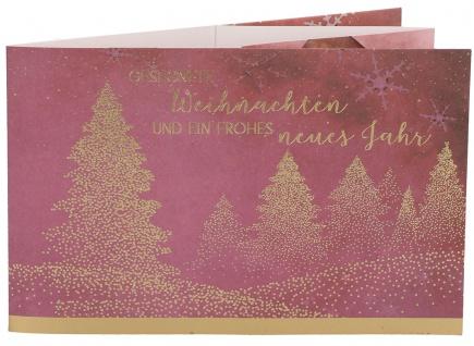 Grußkarte Teelichtkarte Gesegnete Weihnachten und ein frohes neues Jahr (5 Stck)