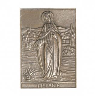Namenstag Melanie 8 x 6 cm Bronzeplakette Bronzerelief Wandbild Schutzpatron