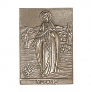 Namenstag Melanie 8 x 6 cm Bronzeplakette