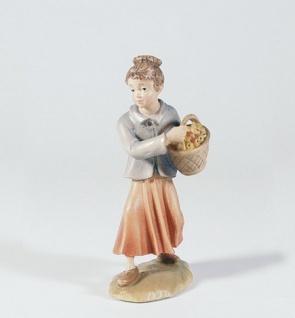 Krippenfigur Mädchen mit Flöte Mesner-Krippe 22 cm Krippen Figur Weihnachten