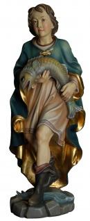 Heiliger Tobias Holzfigur geschnitzt Südtirol Schutzpatron Person aus dem AT