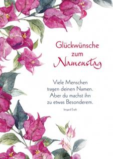 Postkarte Namenstag Irmgard Erath 10 Stück Adressfeld Blumen Besonderheit