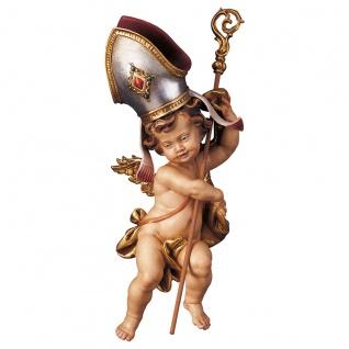 Engelfigur Bischofsputte Holz, geschnitzt handbemalt Südtiroler Schnitzkunst