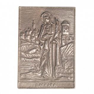 Namenstag Barbara 8 x 6 cm Bronzeplakette Wandrelief Namenspatron Geschenk