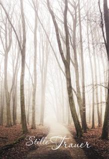 Trauerkarte Stille Trauer (6 St) Ida Lamp Waldweg Grußkarte Kuvert