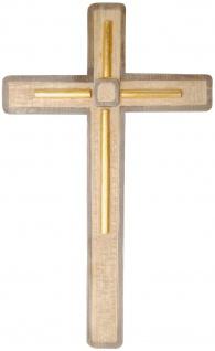 Kreuz Linea Holzkreuz geschnitzt Südtirol Kruzifix Wandkreuz - Vorschau 2
