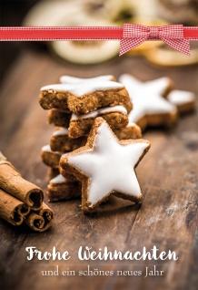 Weihnachtskarte mit Rezept Frohe Weihnachten und ein schönes neues Jahr 6 Stk