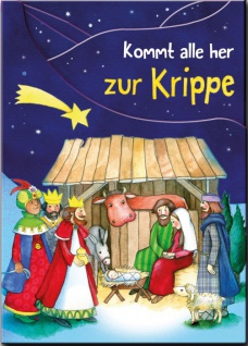 Leporello-Kinderbuch Kommt alle her zur Krippe Christliche Bücher