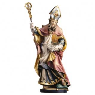Heiliger Ambrosius mit Bienenkorb Heiligenfigur Holz geschnitzt Südtirol
