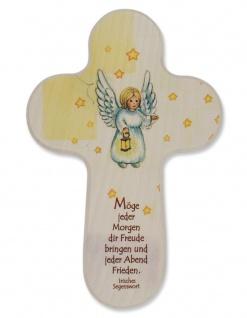 Kinderkreuz Engel Irischer Segen Möge jeder Morgen 15 cm Wandkreuz Holzkreuz