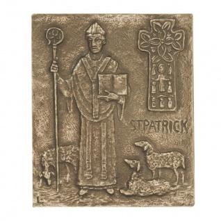 Namenstag Patrick 13 x 10 cm Namenspatron Bronzerelief Wandbild Schutzpatron