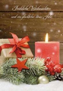 Glückwunschkarte Fröhliche Weihnachten (6 Stück) Kuvert Bibelwort Grußkarte