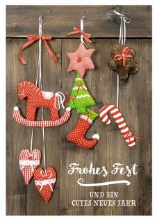 Postkarte Frohes Fest und ein gutes neues Jahr (10 Stck) Glückwunsch Weihnachten