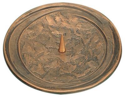 Kerzenleuchter Ø 15, 5 cm Bronze handgegossen Kerzenhalter Kommunion Kerze