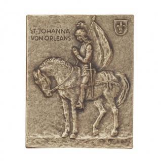 Namenstag Johanna Bronzeplakette 13 x 10 cm Bronzerelief Wandbild Schutzpatron