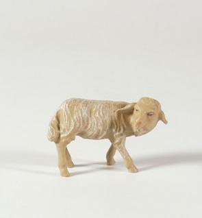 Tiroler Krippe Schaf umschauend bunt bemalt 12 cm Krippen Figur Weihnachten - Vorschau