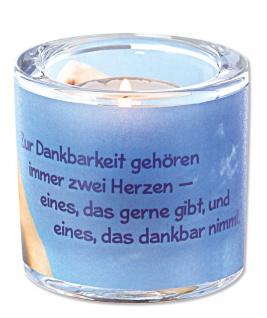 Glaswindlicht Danke inkl. Teelicht Kerzenhalter Geschenkbox Glas für Windlicht - Vorschau 2