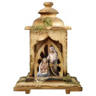 Ulrich Krippe Komet Laternen Stall 3 Teile Holzfigur geschnitzt Weihnachtskrippe