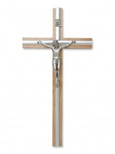 Wandkreuz Kruzifix Holz 20 cm Metall Korpus Jesus Christus INRI-Zeichen Kreuz