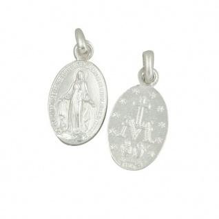 Wunderbare Wundertätige Medaille Maria Miraculeuse 12 mm 925 Sterlingsilber