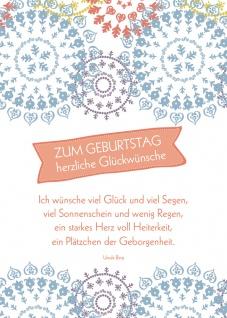Postkarte Geburtstag Glückwünsche 10 St Adressfeld Blumen Segen Glück