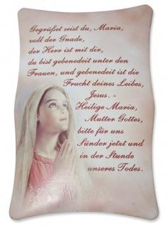 Marienbild Gegrüßet seist du Maria 7 x 10 cm Christliches Wandbild
