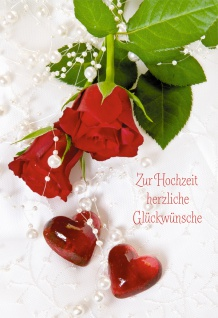 Geld-Geschenkkarte Zur Hochzeit herzliche Glückwünsche (6 Stck) Grußkarte Kuvert